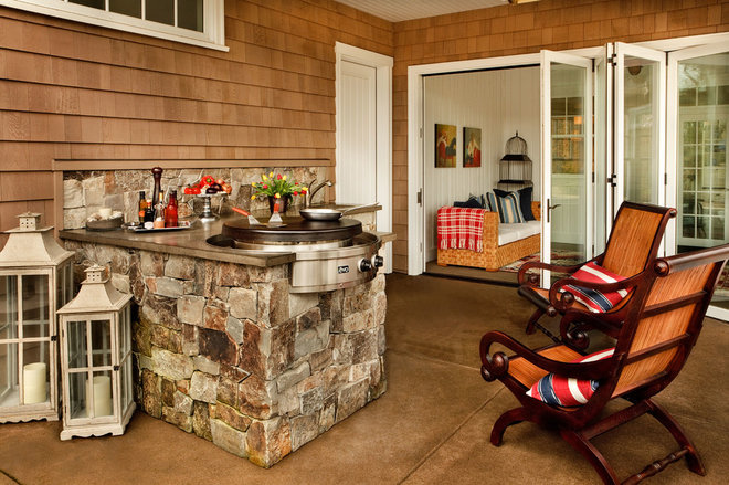 Traditional Patio by Garrison Hullinger Interior Design Inc.