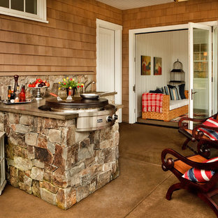 Example Of An Ornate Patio Kitchen Design In Portland