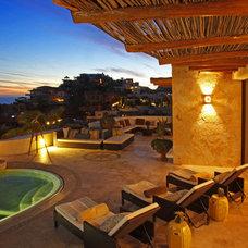 Mediterranean Patio by Kamarron Design, Inc.