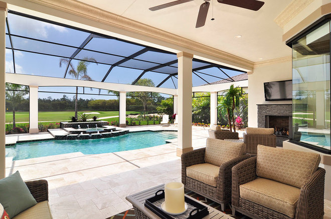 Traditional Patio by Harbourside Custom Homes