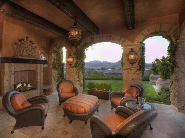 Mediterranean Patio by Paddle Creek Design
