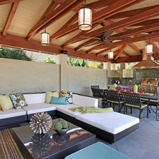 Contemporary Patio by Cathy Morehead
