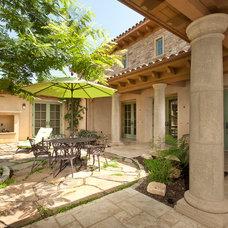 Mediterranean Patio by Wylie Architecture Planning Interior Design