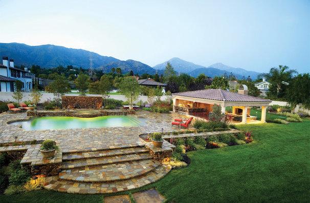 Mediterranean Patio by HartmanBaldwin Design/Build