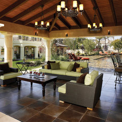 mediterranean patio by HartmanBaldwin Design/Build