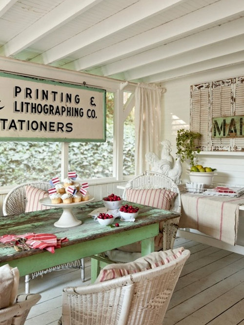 Shabby Chic Style Shelving Outdoor Design Ideas Remodels Photos