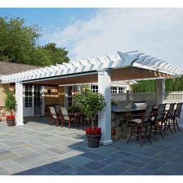 Vinyl Pergola Outdoor Kitchen