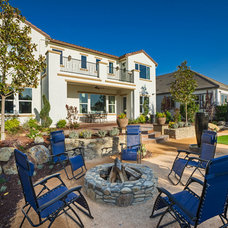 Mediterranean Patio by Tim Lewis Communities