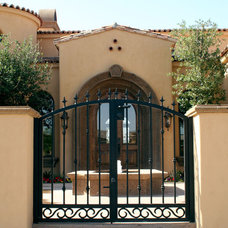 Patio by Colletti Design Iron Doors