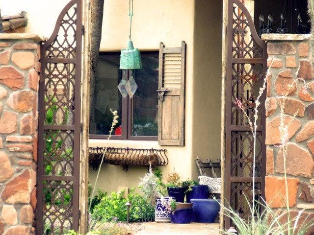 Patio by Colletti Design Iron Doors