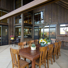 Rustic Patio by Jon R. Sayler, Architect AIA PS