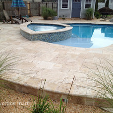 Traditional Patio by Travertine Mart
