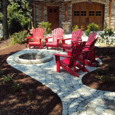 Contemporary Patio by Hampshire Farm Landscaping, LC
