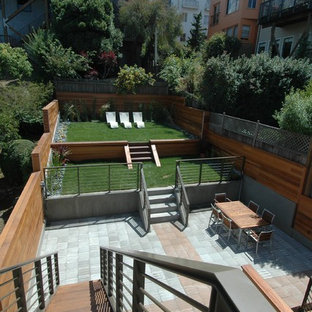 Inspiration for a contemporary backyard concrete paver patio remodel in San Francisco