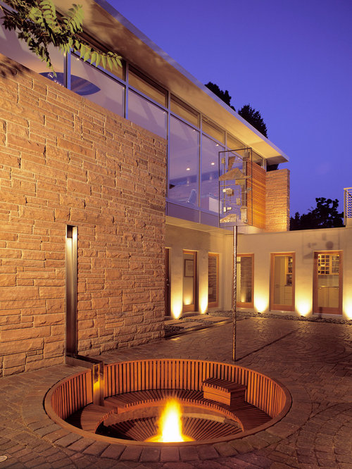 Recessed Fire Pit Design Ideas Amp Remodel Pictures Houzz