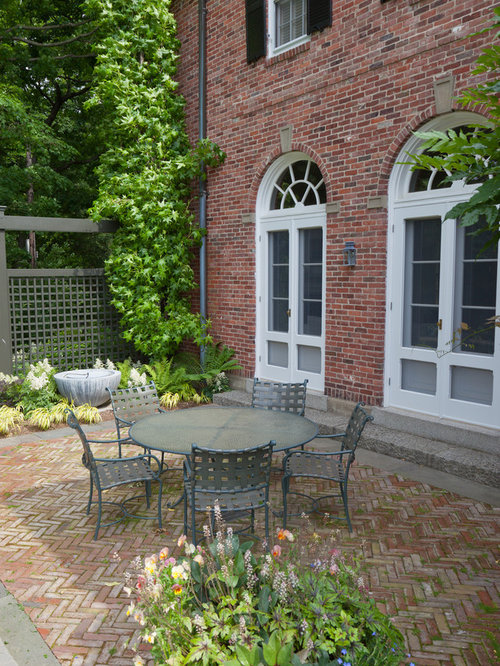 Elegant Brick Patio Photo In Boston