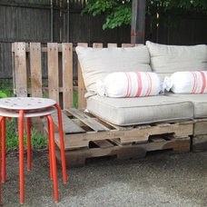 Eclectic Patio by Amber Wilhelmina Design & Interiors