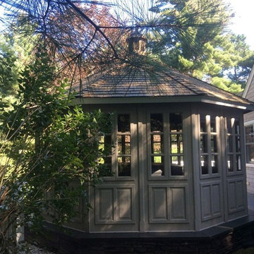 Wash of Roof on Home and Gazebo in Plymouth