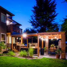 Contemporary Patio by Paradise Restored Landscaping & Exterior Design