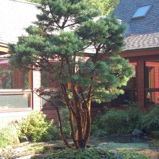 Ispirazione per un patio o portico etnico di medie dimensioni e in cortile con pavimentazioni in pietra naturale e nessuna copertura