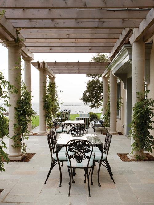 mediterranean waterfront pergola home design ideas photos. Black Bedroom Furniture Sets. Home Design Ideas