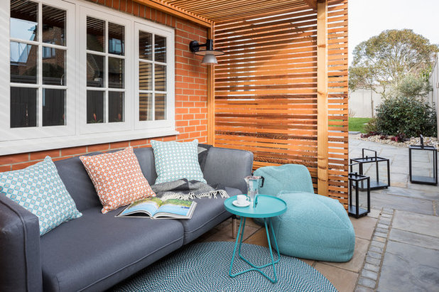 Transitional Patio by Emma Painter Interiors