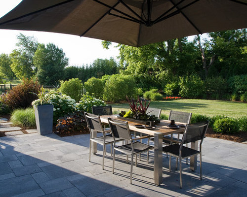 Elegant Patio Photo In Chicago With A Fire Pit