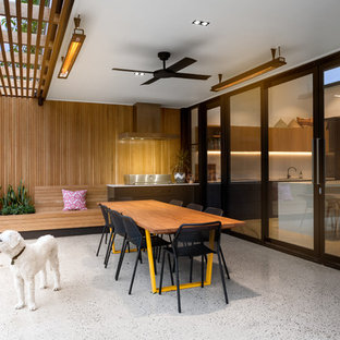 Inspiration for a contemporary patio in Adelaide with concrete slab and a pergola.