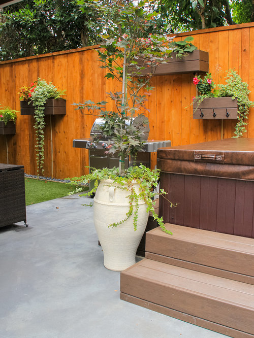 Eclectic Patio Design Ideas Renovations Photos With A