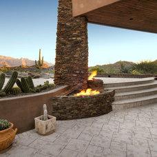 Contemporary Patio by Process Design Build, L.L.C.