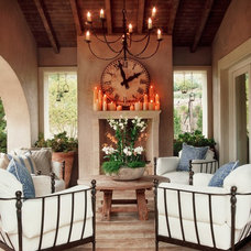 rustic patio by Wendi Young Design