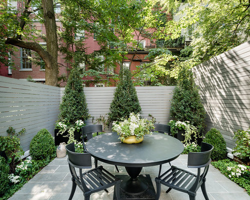 Inspiration For A Small Timeless Backyard Patio Remodel In New York