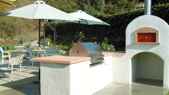 West Covina California outdoor kitchen with wood fired oven
