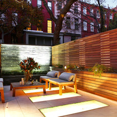 Modern Patio by moment design + productions, llc