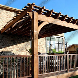 Western Timber Frame Oversize Pergolas - Western Timber Frame