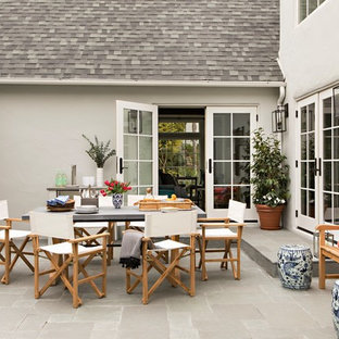 Patio - large transitional courtyard patio idea in Los Angeles