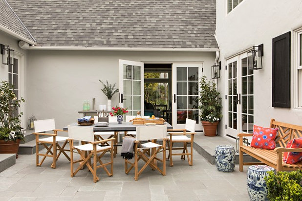 Transitional Patio by Paige Pierce Design