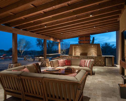 Elegant Southwest Patio Kitchen Photo In Phoenix