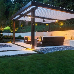 Beau White Brick Outdoor Space