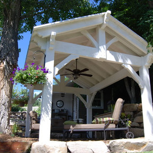 White Finish Timber Frame Shade Structures