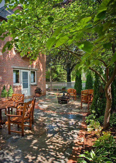 American Traditional Patio by Ginkgo Leaf Studio