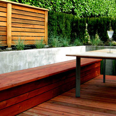 Contemporary Patio by Swick's Organic Landscaping