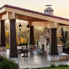 Mediterranean Patio by Loot Design House