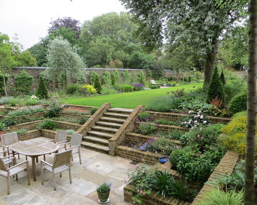 Tiered garden houzz for Victorian garden walls designs