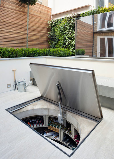 Contemporary Patio by Spiral Cellars
