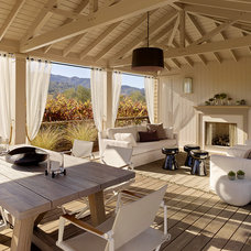 Transitional Patio by Andrew Mann Architecture