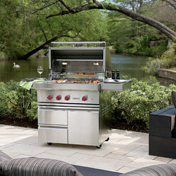 """Wolf 36"""" Outdoor Gas Grill, Stainless Steel Liquid Propane 