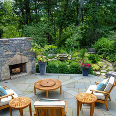 Rustic Patio by a Blade of Grass