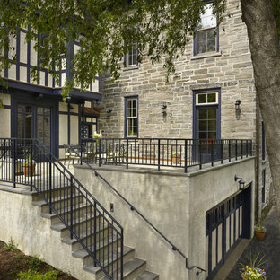 Example of a classic patio design in Philadelphia with no cover