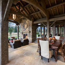 Rustic Patio by Locati Architects